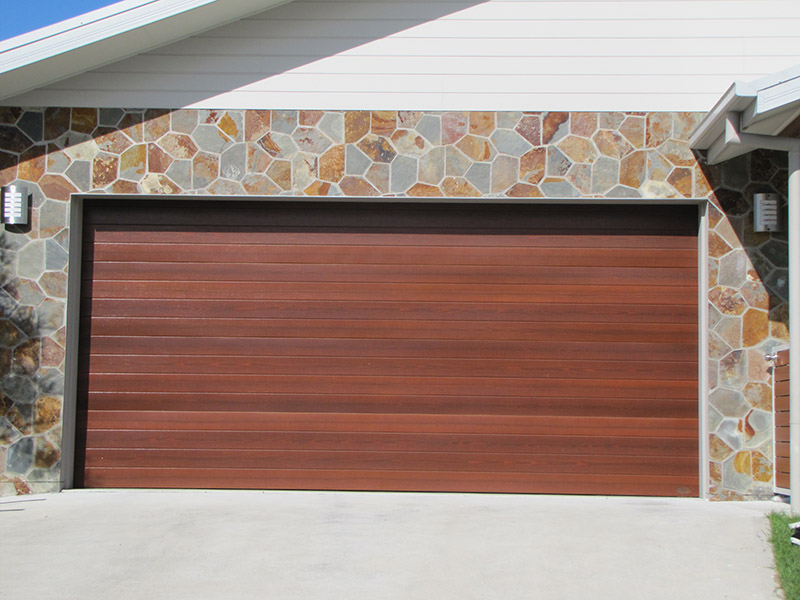 Timber Tone Panel Door (Merbau) ... & Past Work u2013 J u0026amp; B Garage Doors